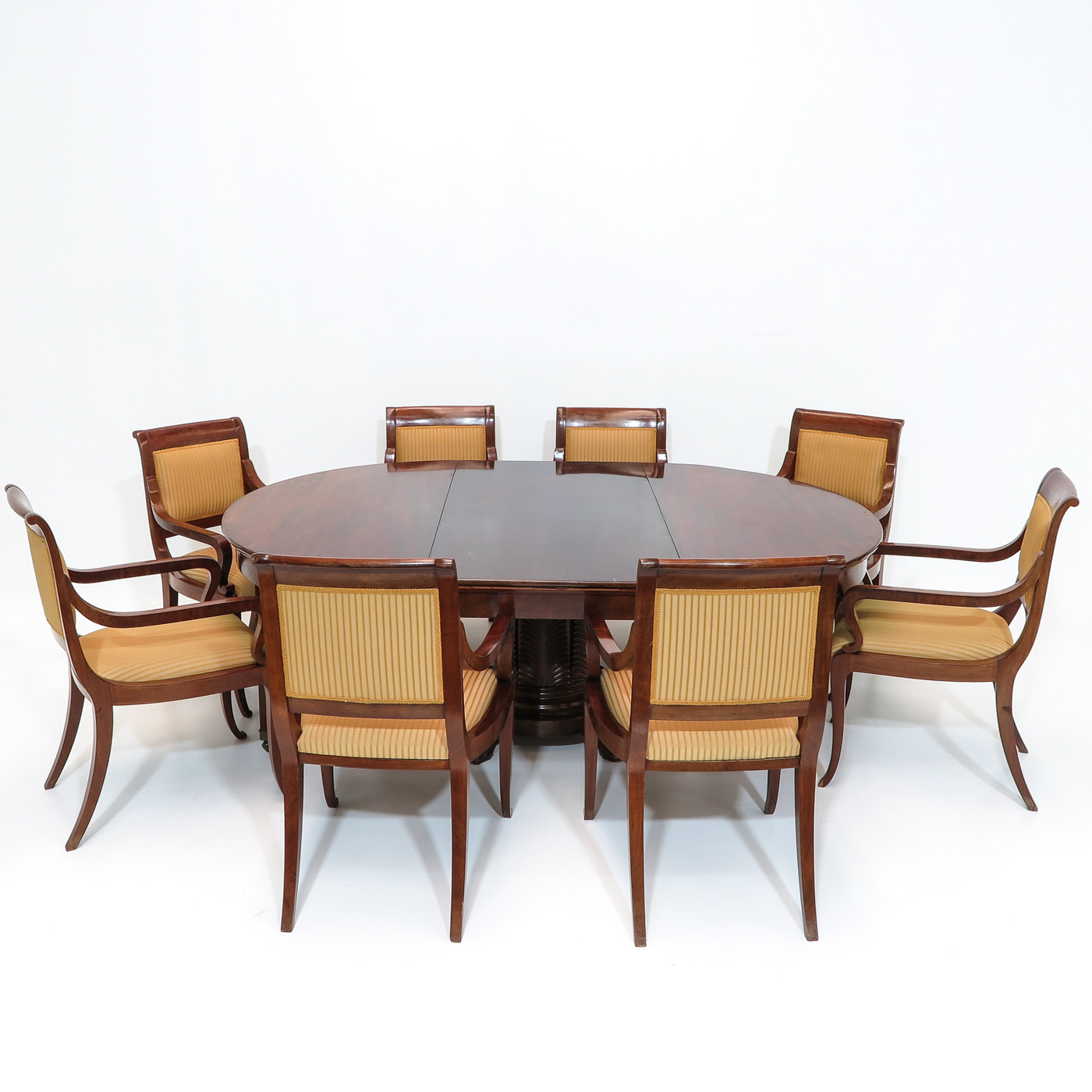 Lot 1104 - A Mahogany Table and 8 Chairs