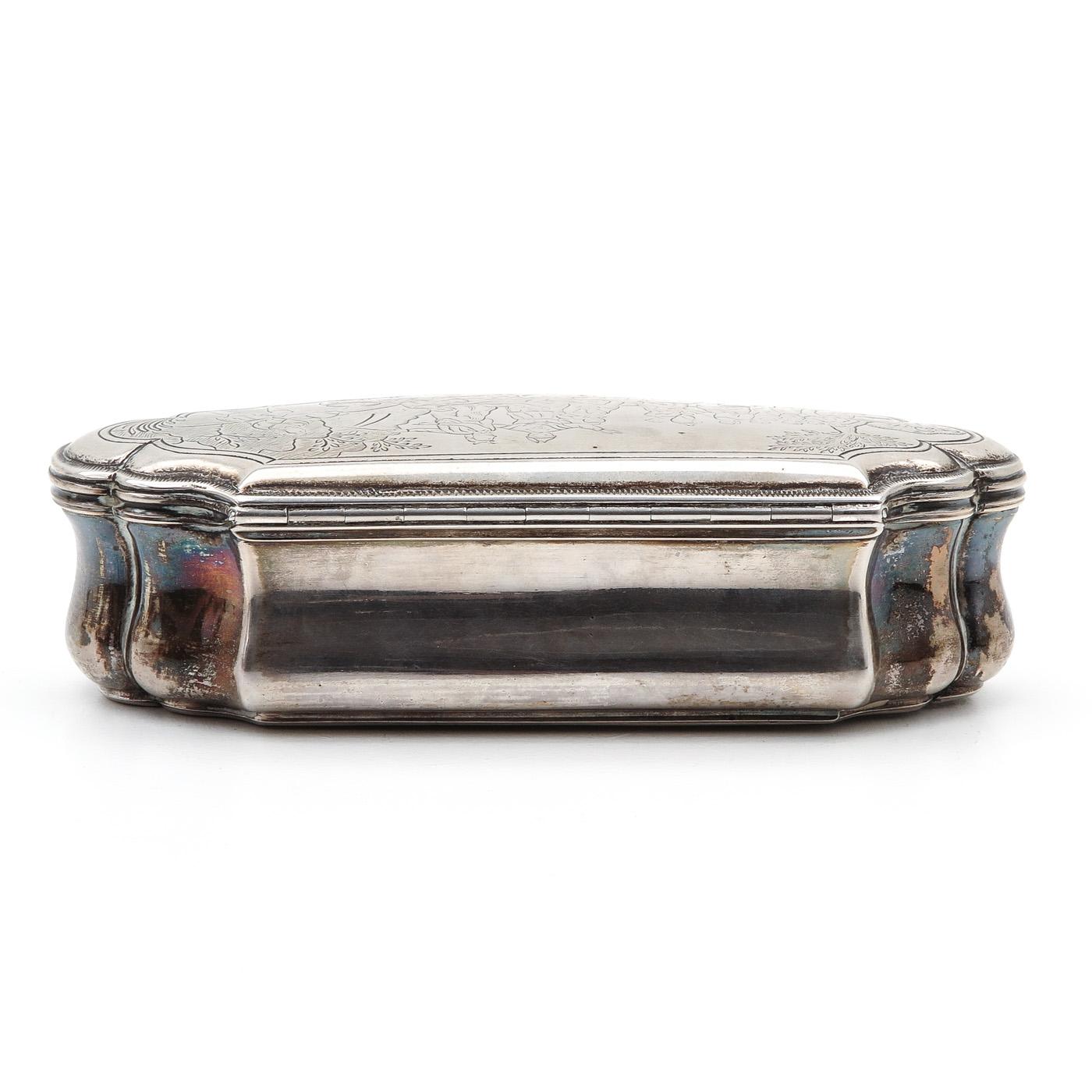 Lot 3024 - An Dutch Silver Tobacco Box