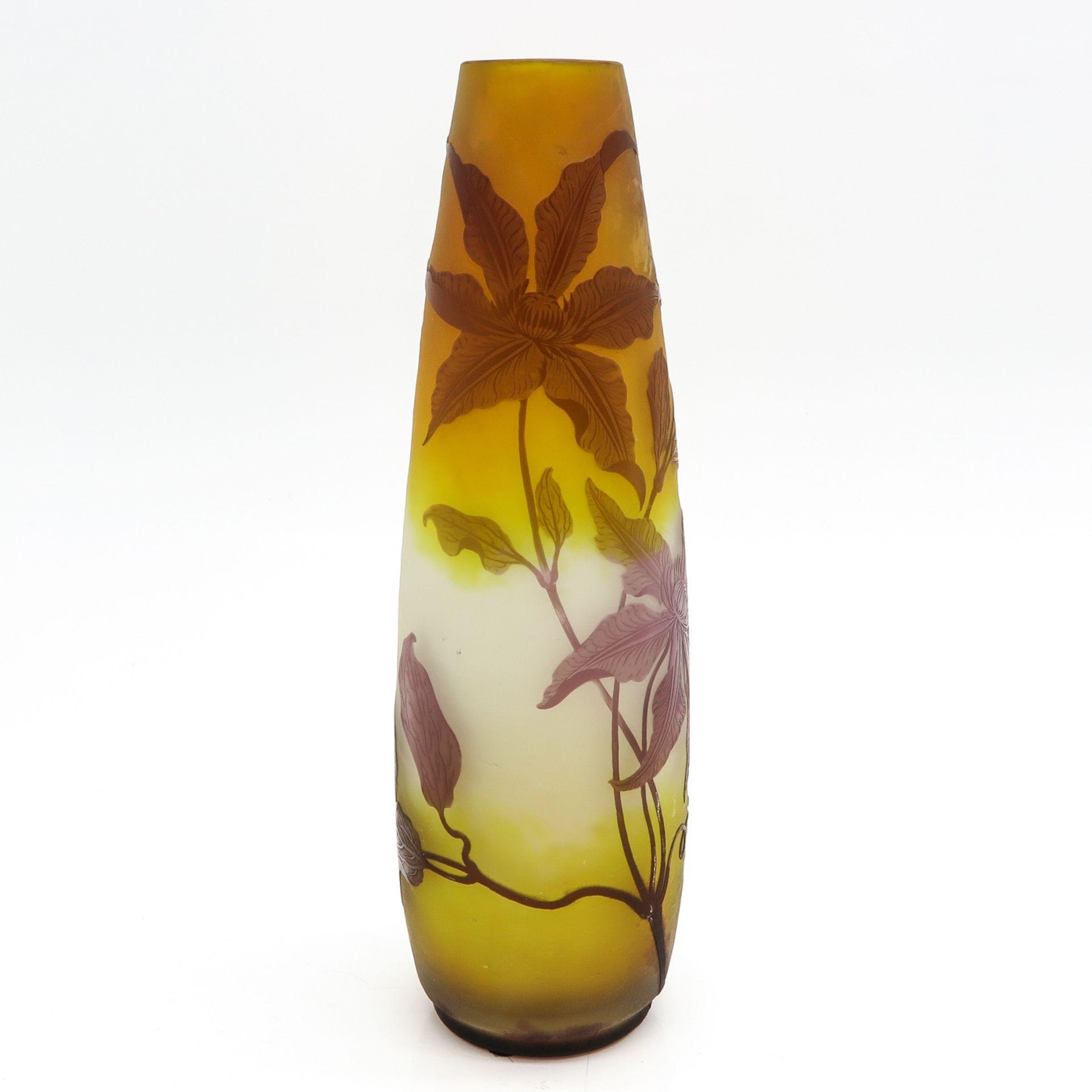 Los 1023 - A Signed Galle Vase