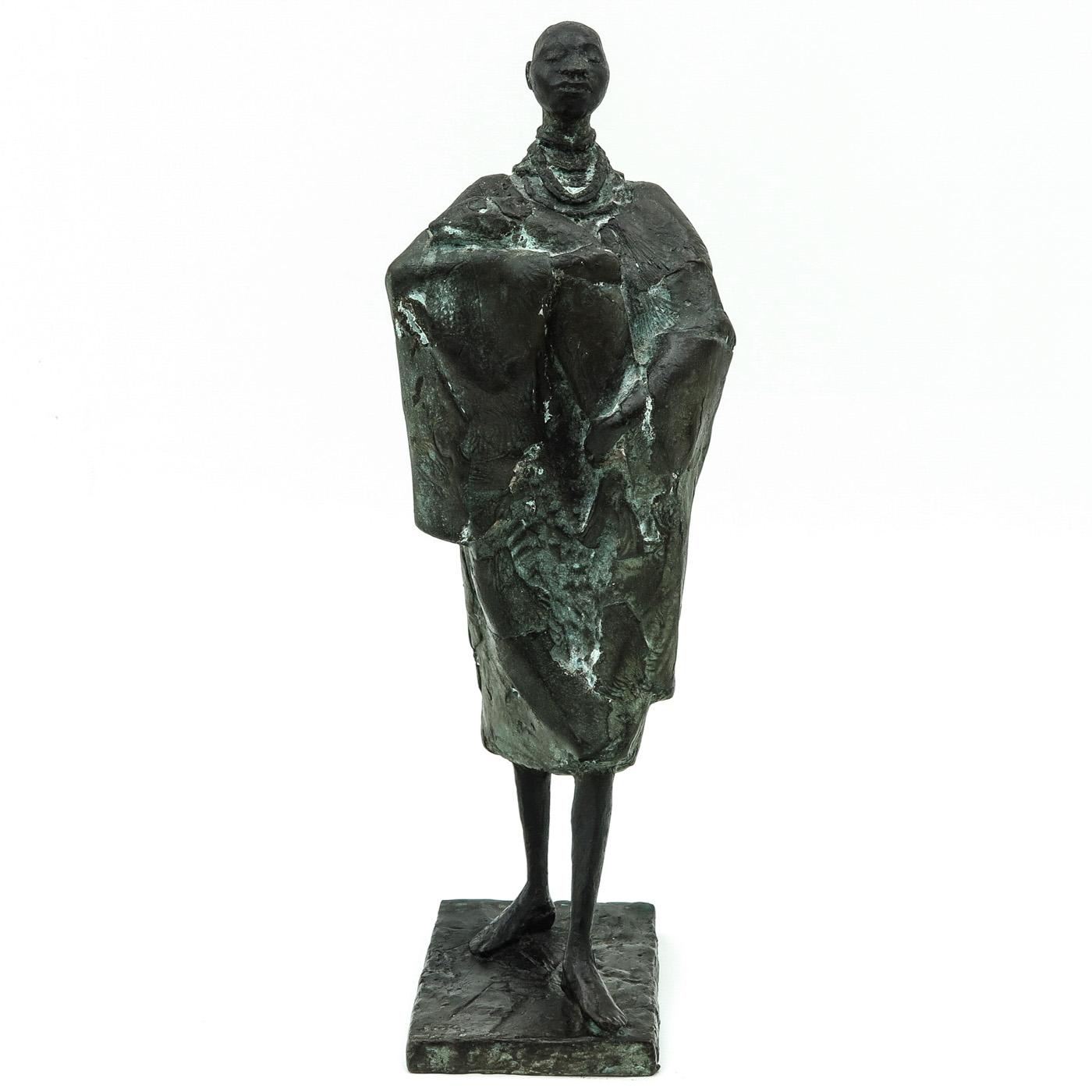 Lot 1145 - A Bronze Sculpture