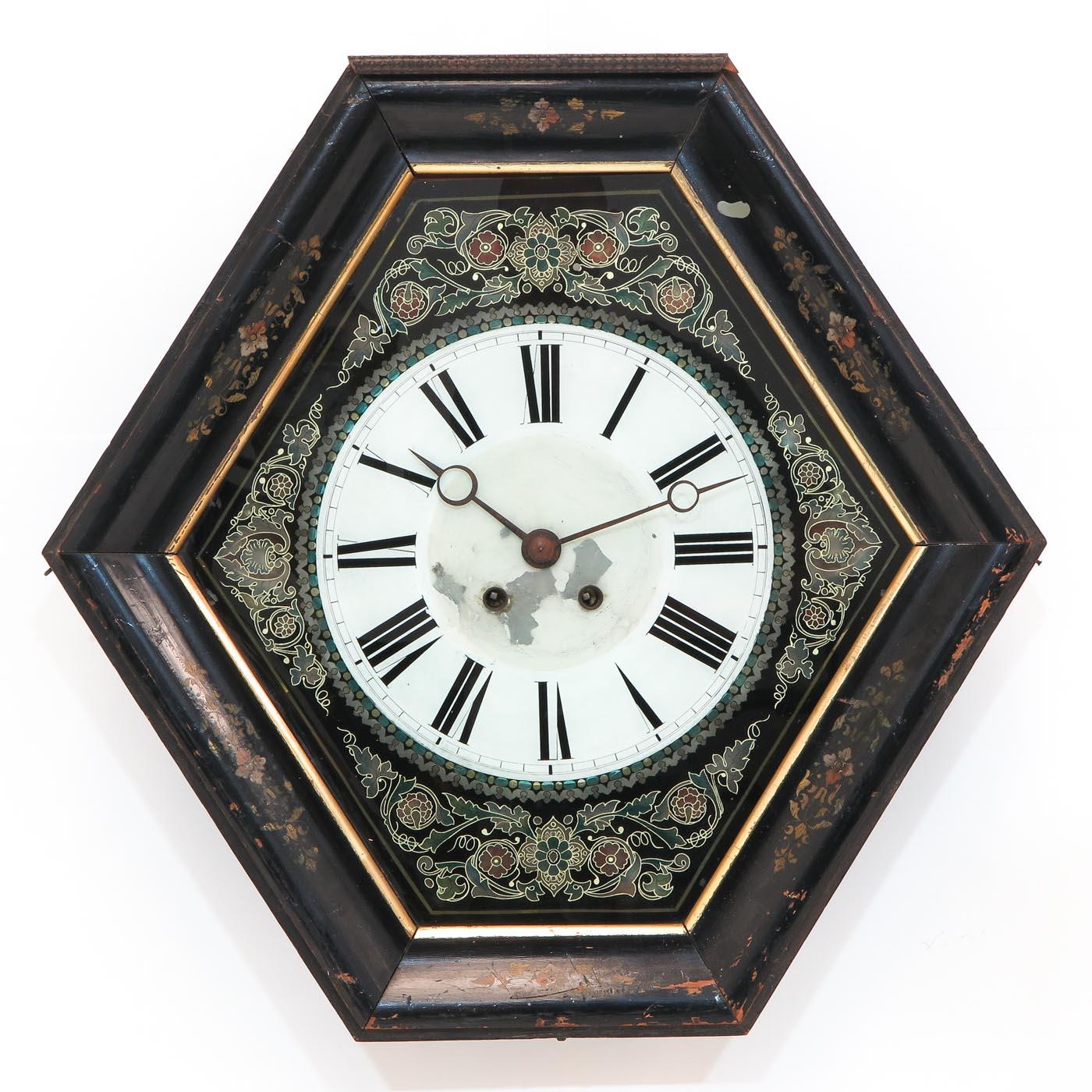 Lot 1444 - A French Wall Clock Circa 1880