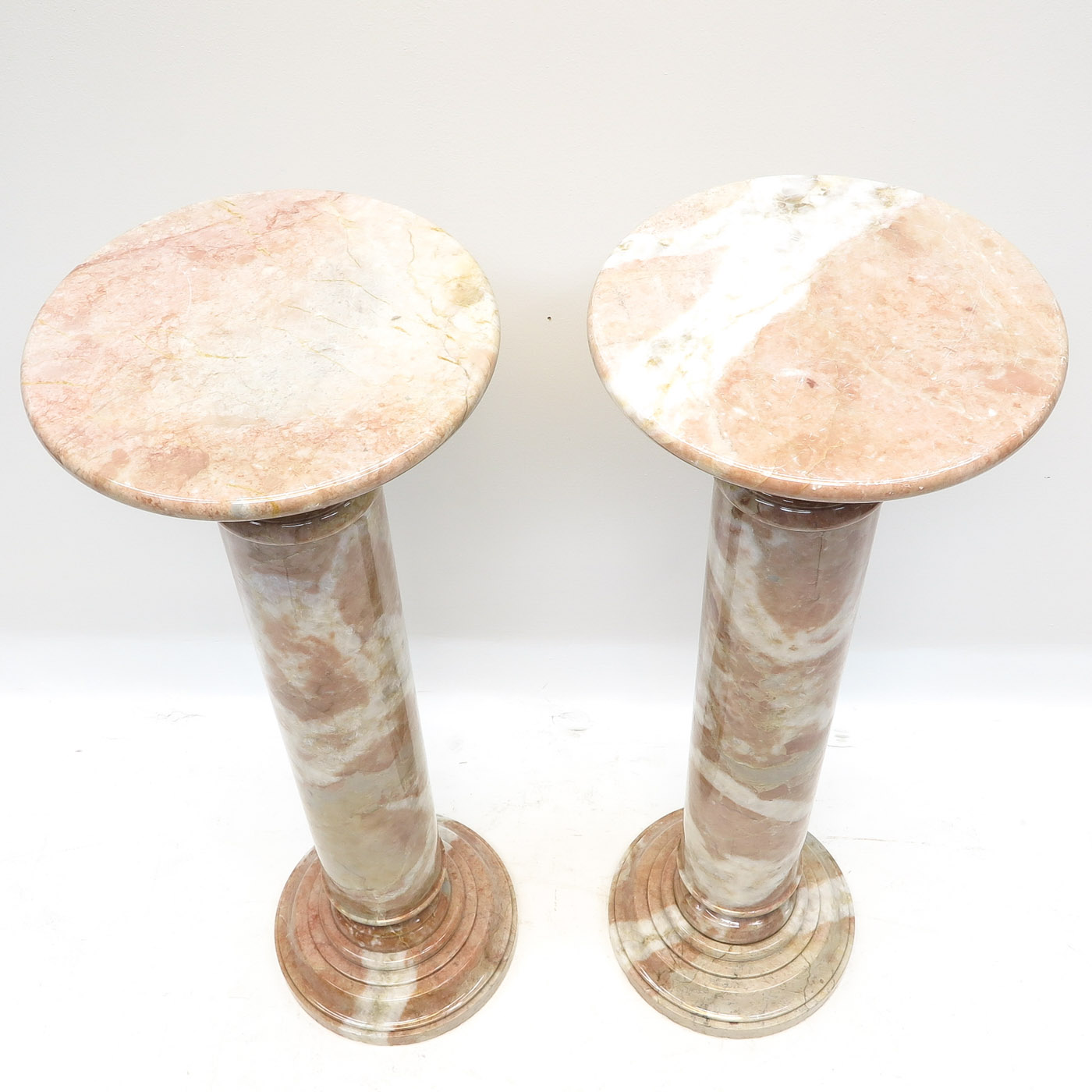 Lot 1053 - A Pair of Marble Pedestals