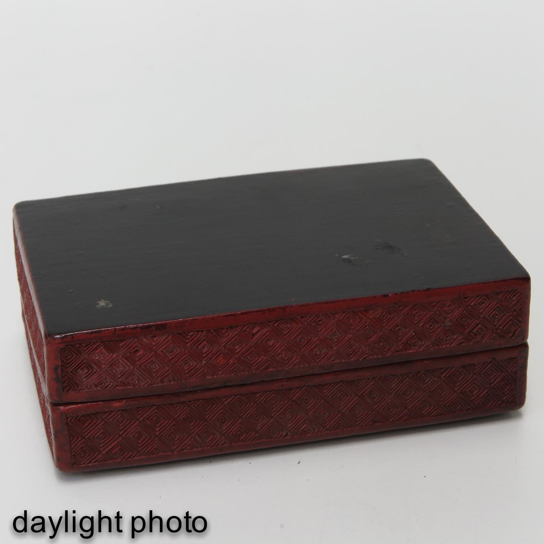 Lot 7022 - A Cinnabar Box