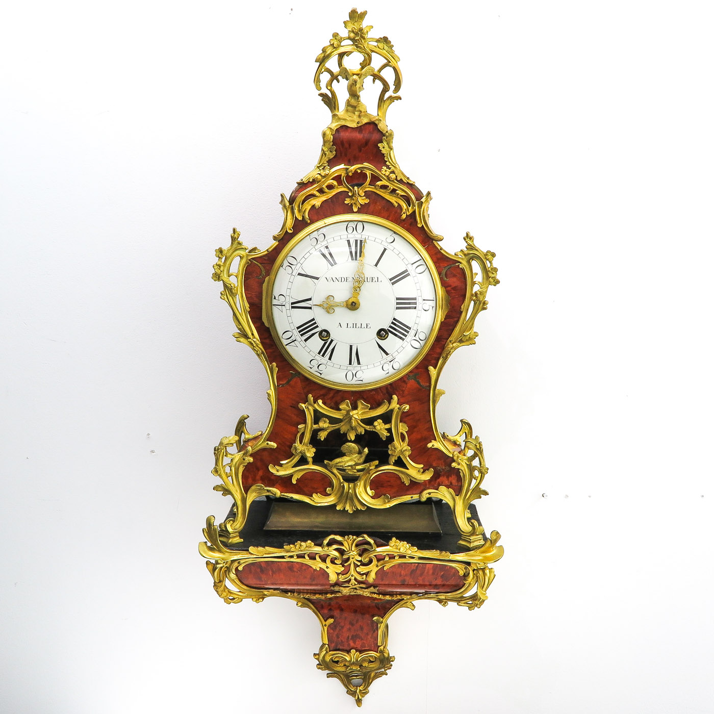 Lot 1040 - A Signed Console Clock