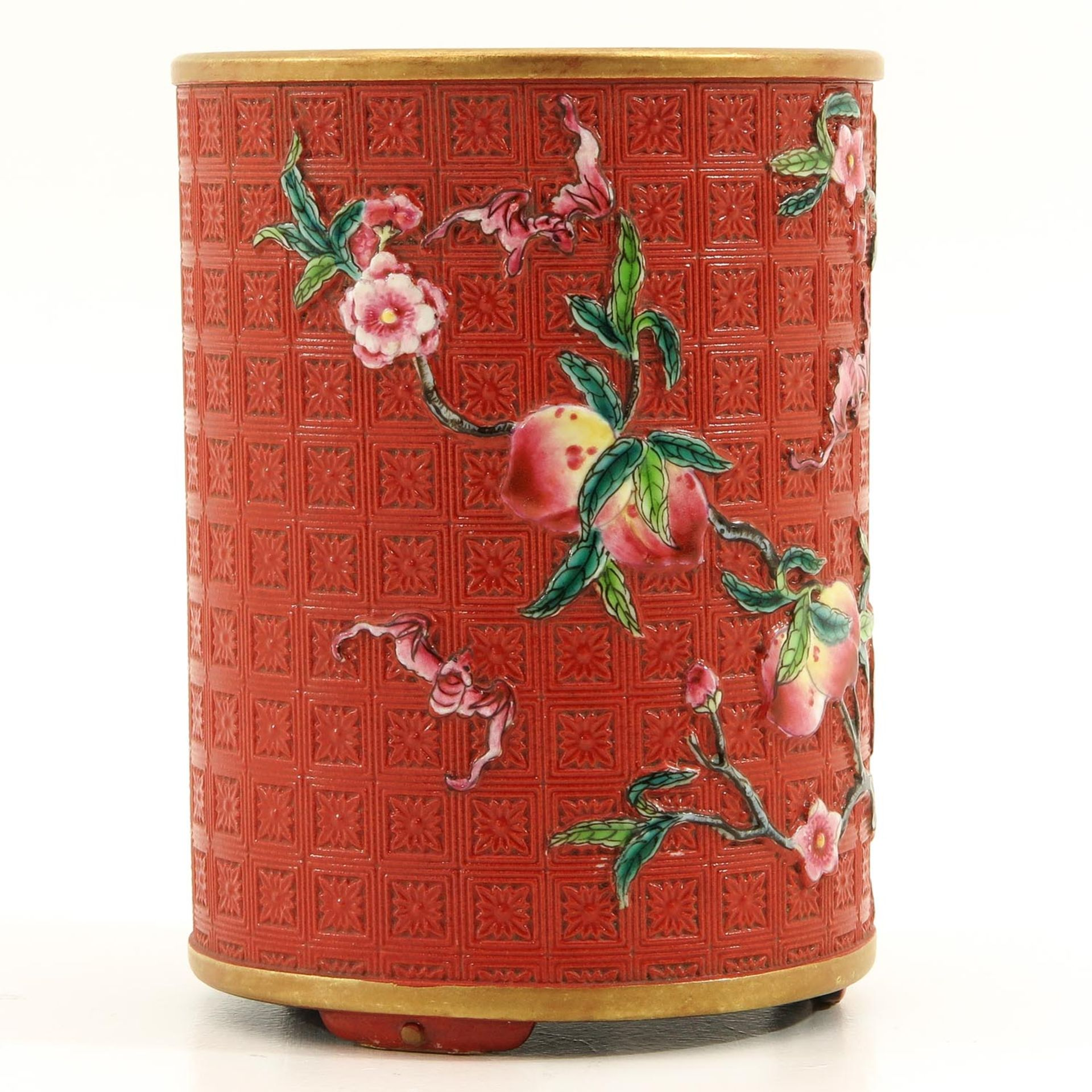 Los 7039 - A Nine Peaches Decor Brush Pot