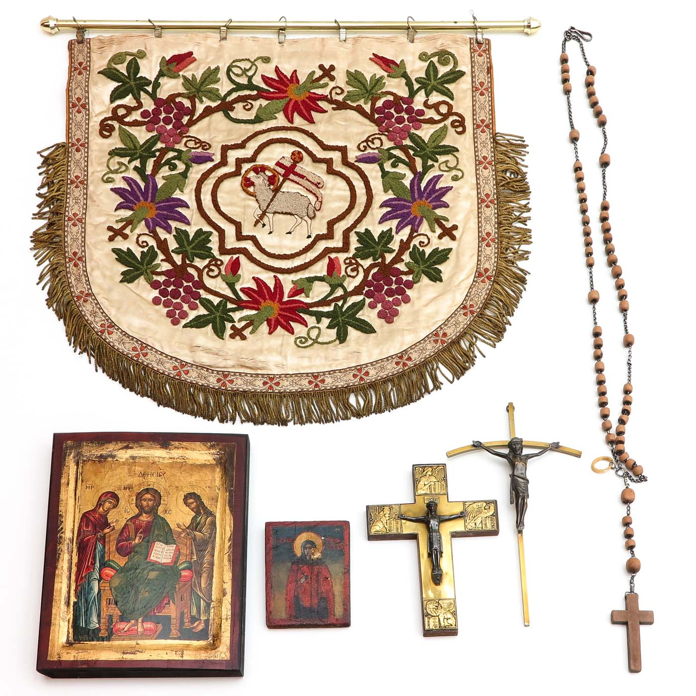 Lot 1297 - A Diverse Collection of Religious Items