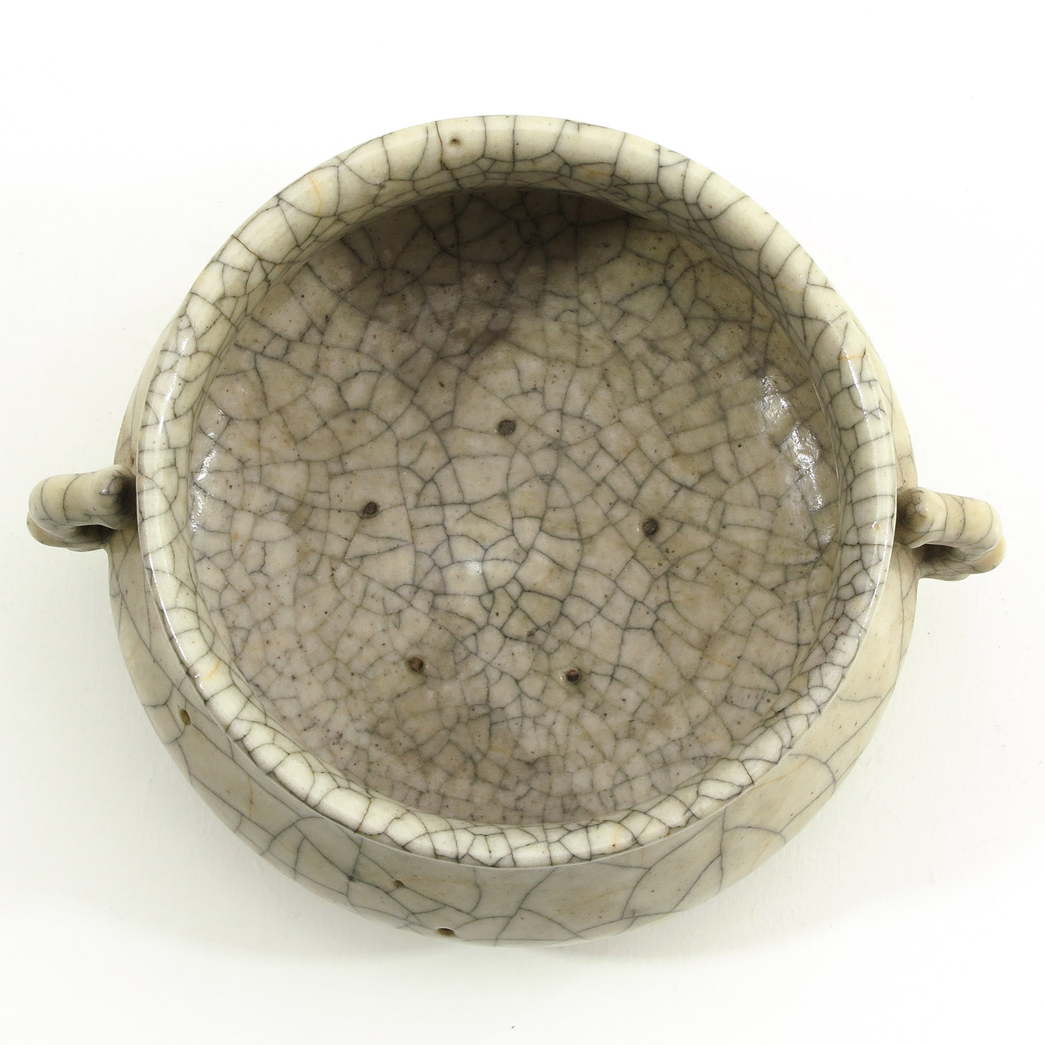 Lot 7012 - A Chinese Crackleware Censer