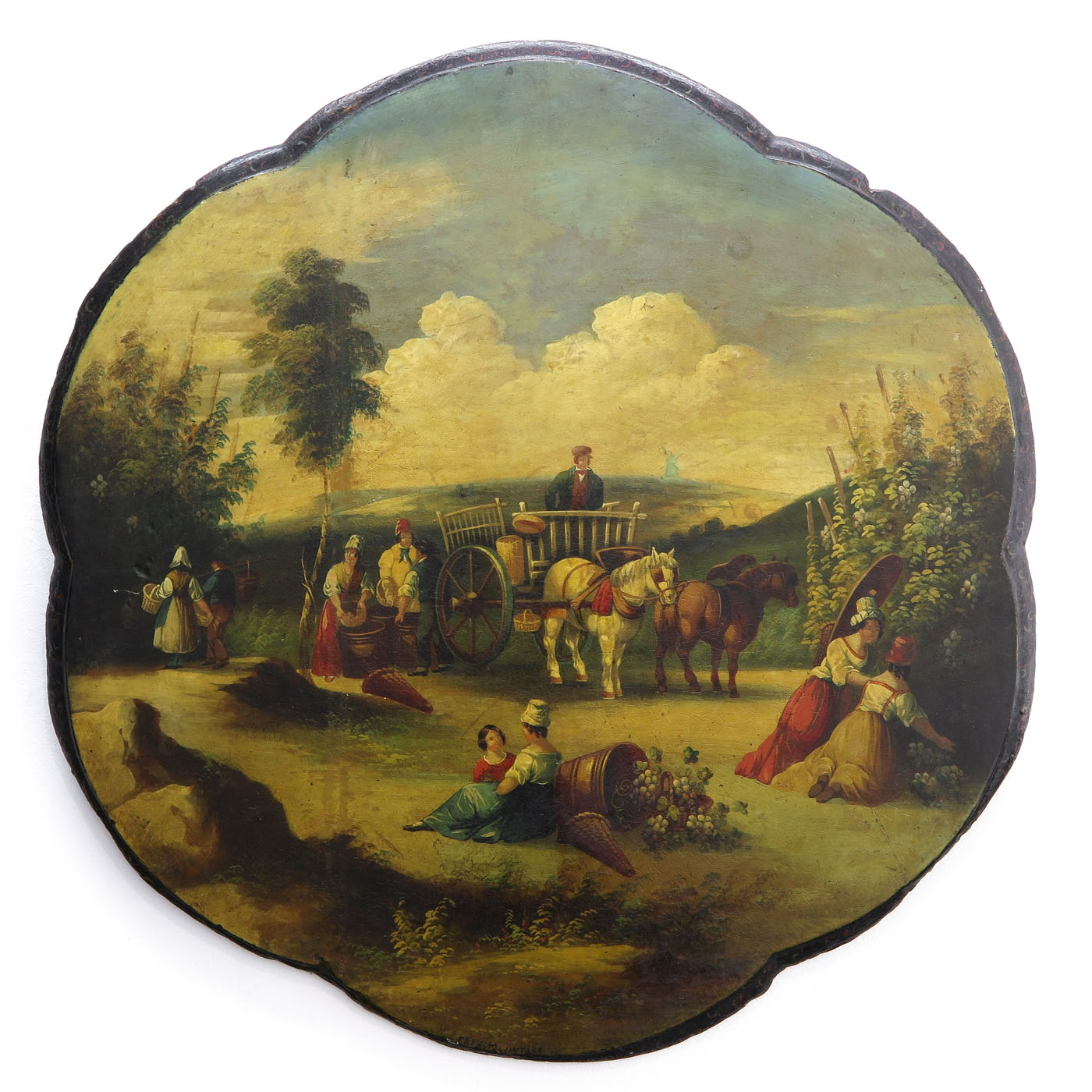 Lot 1109 - A 19th Century Painting on Panel