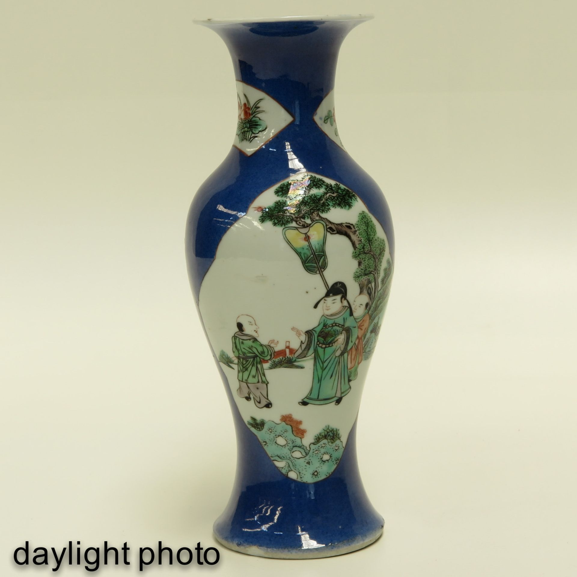 Los 7038 - A Pair of Powder Blue Vases