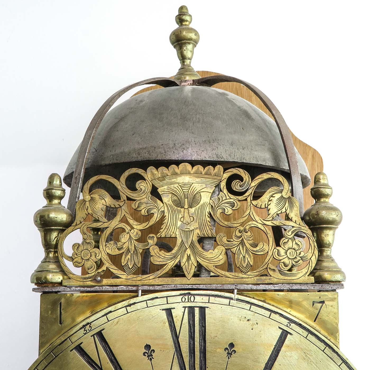 Lot 1074 - A Signed French Lantern clock