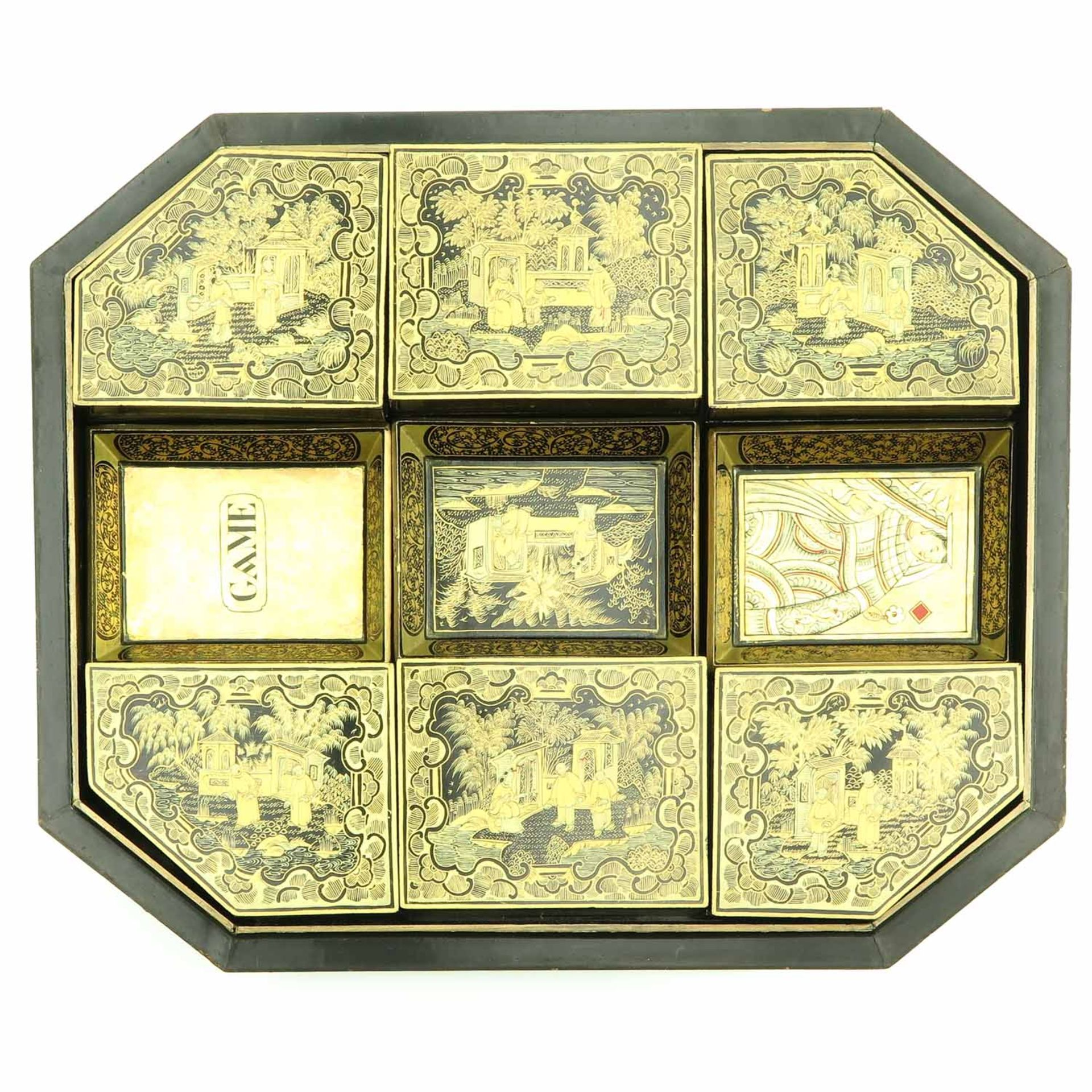 Los 7097 - A Chinese Lacquer Game Box