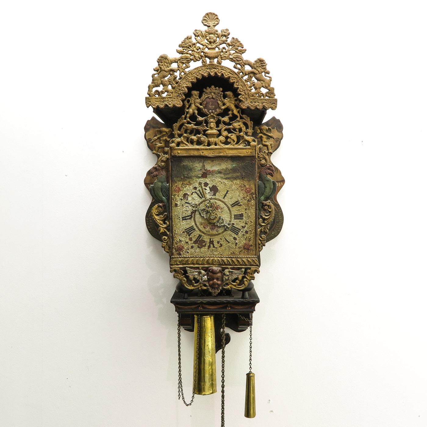 Lot 1025 - An 18th - 19th Century Friesland Clock