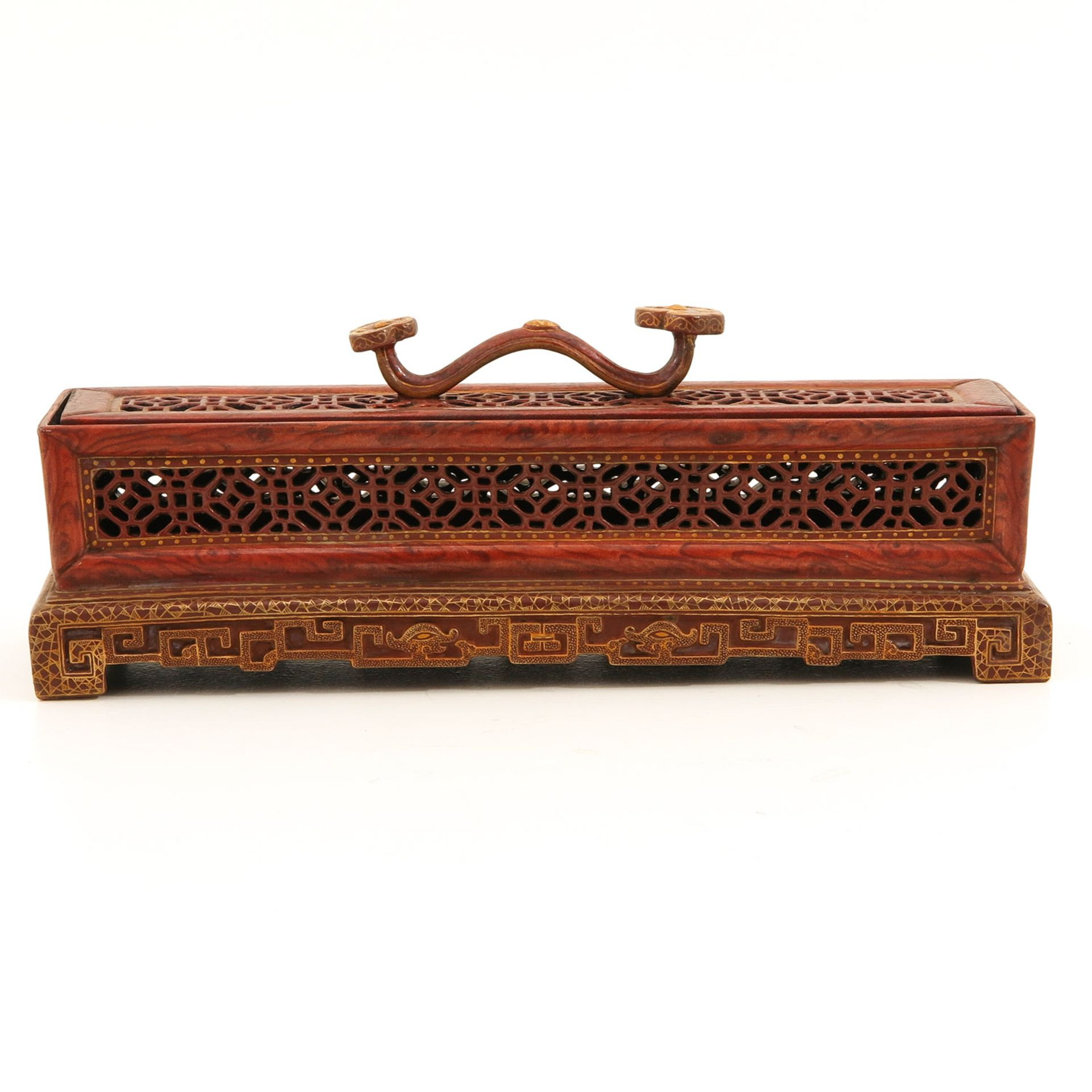 Los 7033 - A Orange and Gilt Box