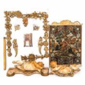 A Gilt Wood and Needlepoint Fire Place Screen