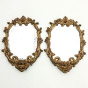 A Pair of 18th - 19th Century Wood Framed Mirrors