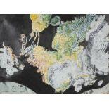 "Luís Silveirinha (b. 1968)""Impulsão""Gouache and graphite on printSigned and dated 1638,7x53 cm 15."