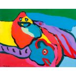 Karel Appel (1921-2006)UntitledOil on paper laid on canvasSigned and dated 7157x75 cm 15.00 %