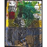 "Francisco Vidal (b. 1978)""Luuanda Rising - Sapo - Ricardo Pinto #30""Acrylic on artisanal"
