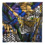 Francisco Vidal (b. 1978)UntitledAcrylic on artisanal paperSigned and dated 18105x105 cm 15.00 %