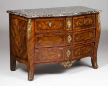 An important French commode stamped Jacques BirckléRosewood, violet wood and other timbersF