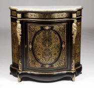 A Boulle style cupboardEbonised woodGilt metal marquetry decoration and hardware of floral