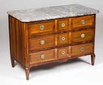 A D.Maria chest of drawersVeneered in rosewood and other timbersMarquetry decoration and gi