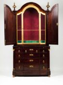 An Empire style commode with oratoryRosewoodOratory with door, gilt frame and two outer doo