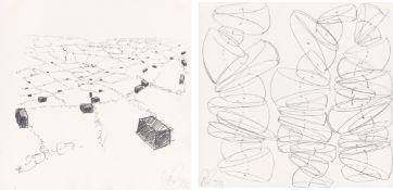 Tony Cragg. Konvolut aus 2 Zeichnungen. 1990 und 1996
