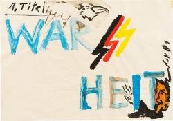 """Jörg Immendorff. """"War-Heit"""". 1981"""