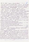 Hanne Darboven. Ohne Titel (Brief an Herrn Gaffron). 1981