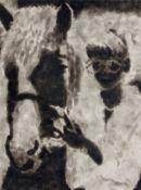 Jiri Georg Dokoupil. Ohne Titel (Mädchen mit Brille und Pferd). 1991