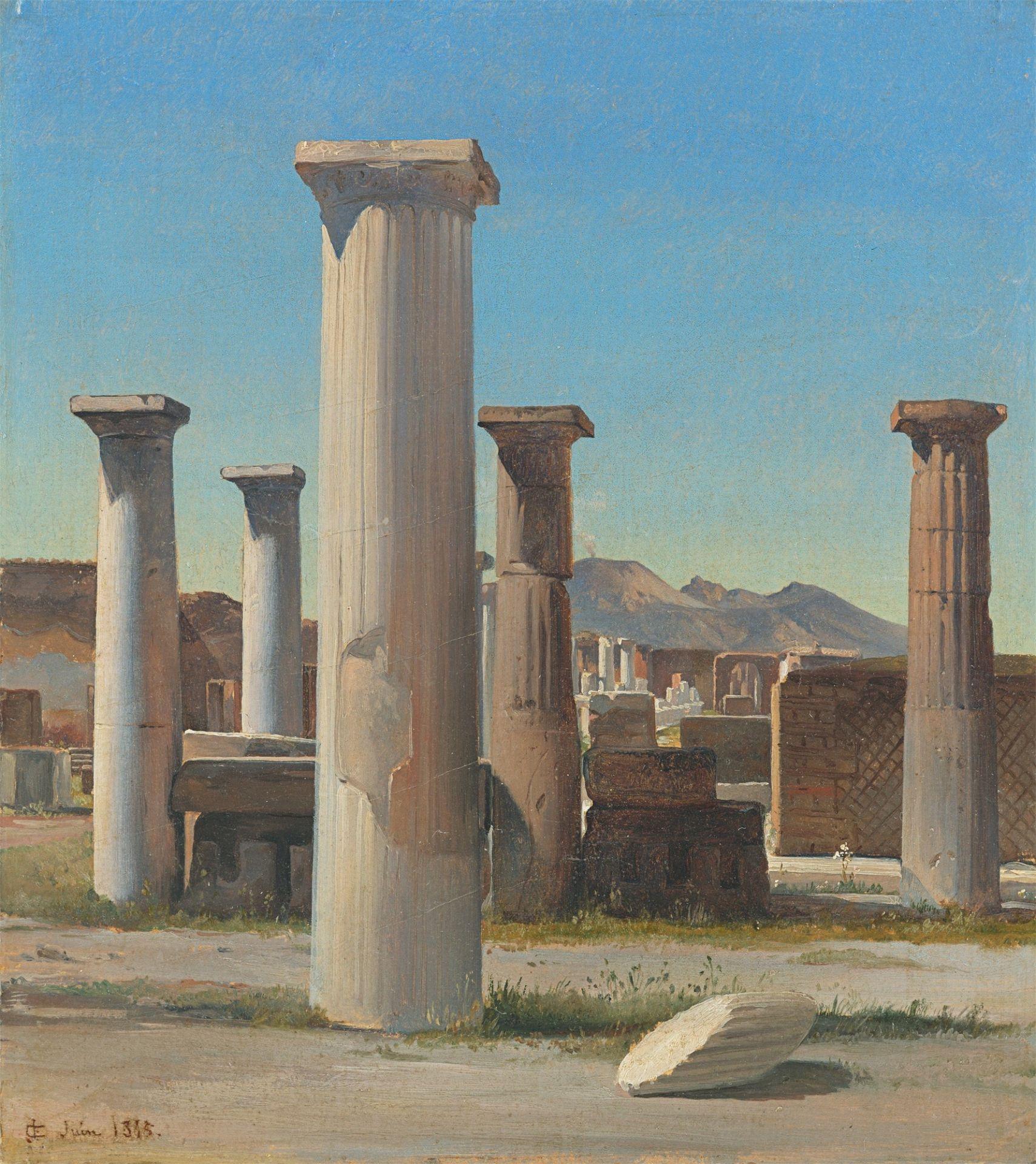 Carl Georg Enslen. Die Ruinen von Pompeji. 1845