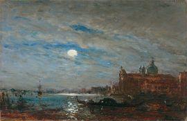 """Félix Ziem. """"Claire de lune devant San Giorgio"""" (Venedig)."""