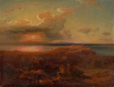 "Carl Rottmann. ""Ägina mit dem Apollotempel"". Um 1835"