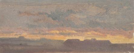 Thomas Fearnley. Der Abendhimmel bei Dresden, im Hintergrund der Lilienstein und der Kö…. Um 1828/30