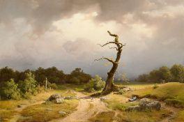 Carl Theodor Reiffenstein. Landschaft bei heranziehendem Gewitter. 1845