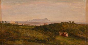 Heinrich Bürkel. Blick auf den Monte Circeo. Um 1853/54