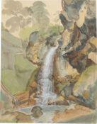 Ernst Fries. Wasserfall.