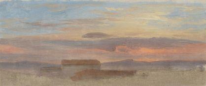 Friedrich Loos. Abendliche Wolkenstudie. Um 1846/52
