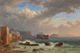 Thomas Fearnley. Gewitter über der Bucht von Pozzuoli. 1833