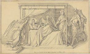 Julius Schnorr von Carolsfeld. Die Heilige Elisabeth zeigt ihrem Gemahl einen von ihr gepfleg…. 1851