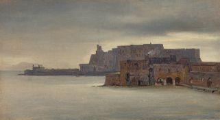 André Giroux. Das Castel dell'Ovo in Neapel. Um 1826
