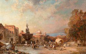 Franz Richard Unterberger. Ein Markt in Neapel.