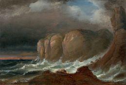 Peder Balke. Cliffs by the Coast of Northern Norway. Mitte der 1840er-Jahre