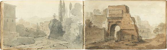 Lorenz Adolf Schönberger. Schoenberger's Skizzenbuch von Rom. Um 1817/25