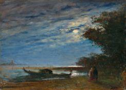 """Félix Ziem. """"Effet de lune, Venise""""."""