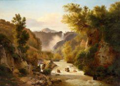 Französisch, um 1800. Die Wasserfälle von Terni.
