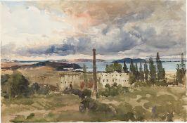 Albert Hertel. Italienische Landschaft.