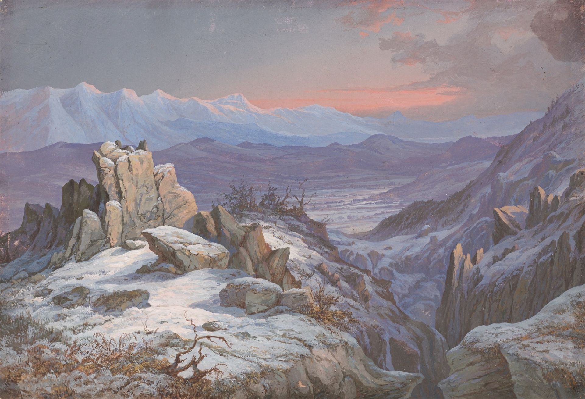 Deutsch (?), um 1820/30. Norwegische Landschaft.