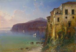 August Wilhelm Ferdinand Schirmer. Tassos Haus an der Küste von Sorrent. (Vor) 1836